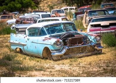 GLENDALE, UT: August 2016 - 1957 Cadillac De Ville  in Glendale UT