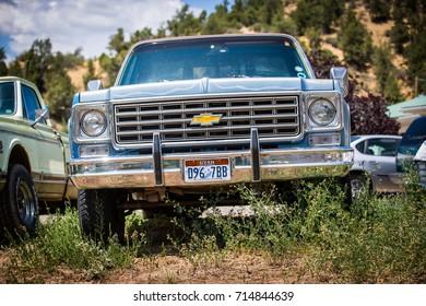 GLENDALE, UT: August 2016 - Old Chevrolet pickup truck in Glendale UT