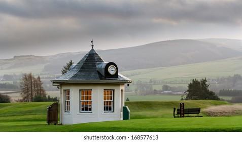 GLENEAGLES, SCOTLAND - DECEMBER 17, 2013:  Starte's Hut at Gleneagles Hotel in Scotland, venue for the 2014 Ryder Cup golf championship.