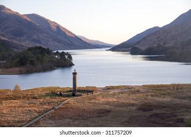 Glenfinnan landscape, UK, Scotland highlands