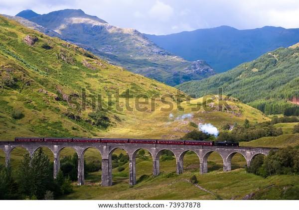 Glenfinnan Viaduct in Scotland Harry Potter