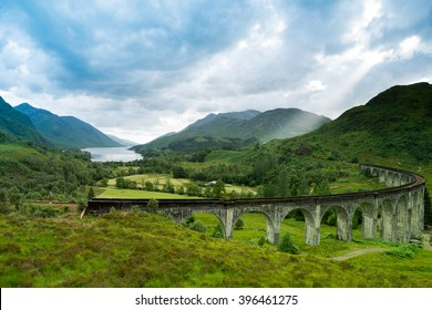 Glenfinnan Viaduct in Scotland United Kingdom.