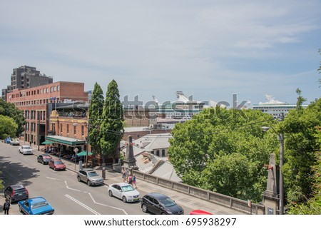 Glenmore Hotel Tourists Harbour View Sydney Stock Photo Edit Now