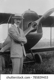 Glenn Curtiss, American aviation pioneer, flyer and designer of early aircraft, c. 1915. From 1909 until 1917, Curtiss engaged in a patent fight with the Wright Brothers that lasted until the Wrights'