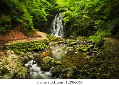 Glenoe Waterfall. Northern Ireland.