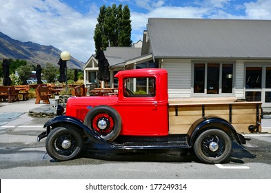 GLENORCHY, NZ - JAN 13:An 1930 Ford Model A Pickup in Glenorchy on Jan 13 2014.In NZ there are more then 13,000 vintage classic cars in immaculate condition.