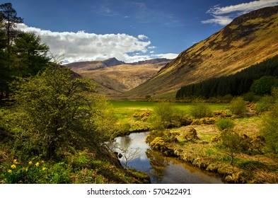 Glenrosa River in Glen Rosa Valley, Isle of Arran, Scotland