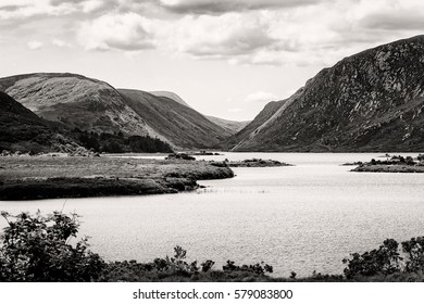 Glenveagh National Park, County Donegal, Ireland. Black and White.