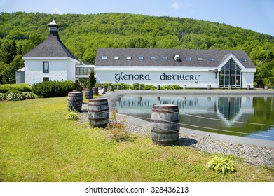 GLENVILLE, NOVA SCOTIA, CANADA - JULY 10, 2015: Glenora - distiller of Glen Breton Rare, a Scottish-style single malt whiskey of North America's. Glenville, Cape Breton, Nova Scotia, Canada