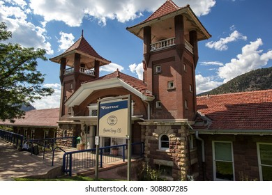 GLENWOOD SPRINGS, COLORADO-AUGUST 19: The historic Amtrak station is still in use in Glenwood Springs on August 19, 2015. This station was opened in 1904.