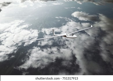 Glider above the clouds