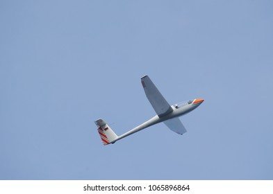 Glider flying in the sky -  Sailplane