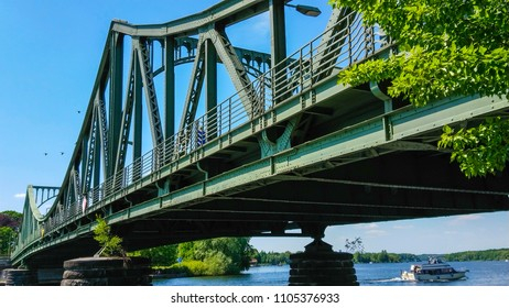 Glienicker Bridge in Berlin - former exchange point for agents - POTSDAM / GERMANY - MAY 22, 2018