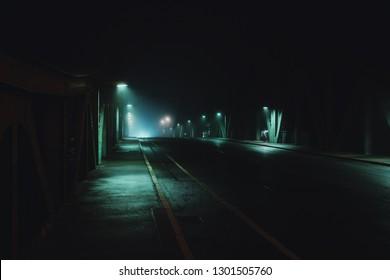 Glienicker Bridge / Spy Bridge at Night