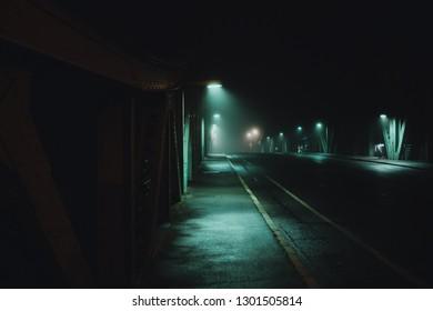 Glienicker Bridge/Spy Bridge bei Nacht