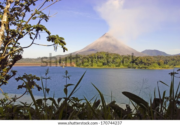 A Glimpse of Arenal Volcano from the Jungle, Costa Rica