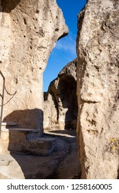 glimpse of the Sassi in Matera, Basilicata, italy