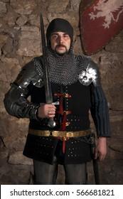 Glistening Knight holding sword