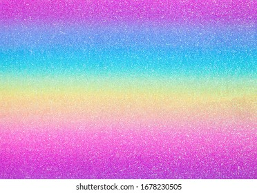 Glistening Rainbow background. Fresh vivid rainbow screen image. Sweet colors. Rainbow-coloured wallpaper. Rainbow-tinted glistering bg. Childish booklet cover surface. Variegated glittering gradient