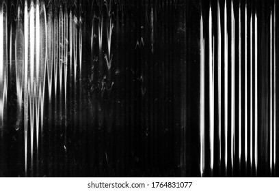 Glitch abstract background. TV noise. Black white distortion artifacts scratched screen with dust.