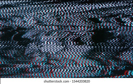 Glitch style, Television failure, LCD Screen glitch, LCD screen as abstract technology background.
