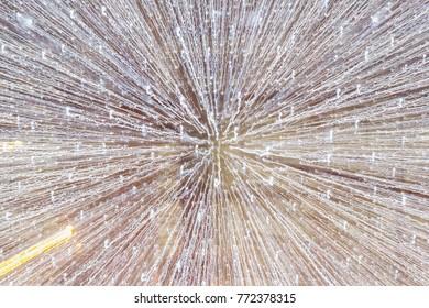 Glitter of light rays, fon