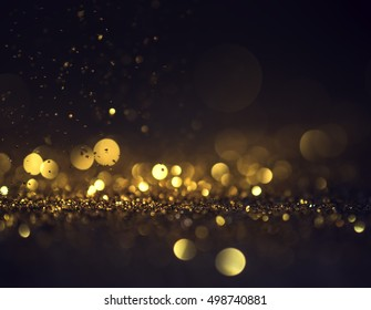 glitter lights grunge background, glitter defocused abstract Twinkly Lights and Stars Christmas Background.