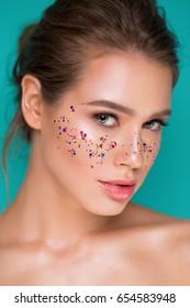 Glitter portrait