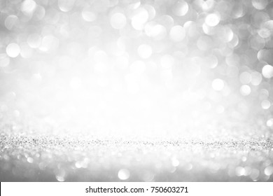 glitter silver texture background shimmer white pattern spark shine for christmas decoration holiday celebration card backdrop blank bright clean clear banner or wallpaper abstract design with space