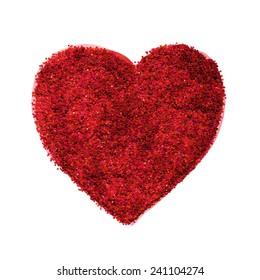 Glitter texture love heart