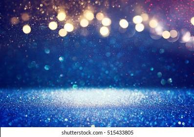 glitter vintage lights background. de-focused