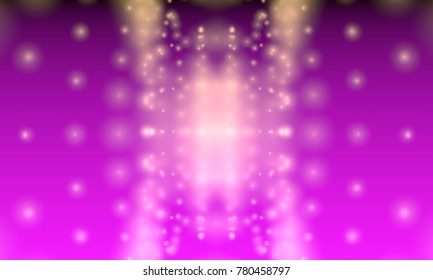 Glitter vintage lights background. Softly blurred dots. 3d rendering.
