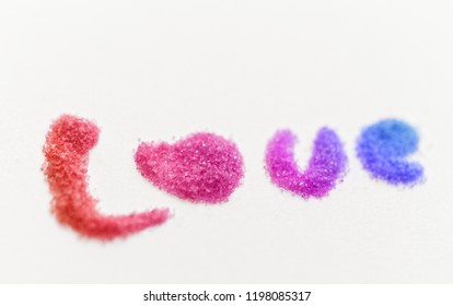 Glitter words. Isolated on white background.