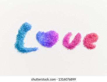 Glitter words - Isolated on white background.