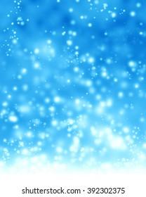 Glittering blue background