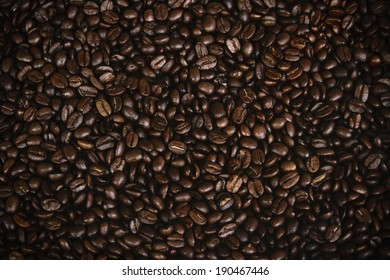 Glittering of coffee beans