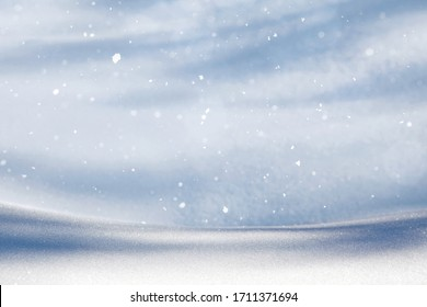 GLITTERING SNOW BACKGROUND, COLD LIGHT WINTER DESIGN, CHRISTMAS PATTERN, BACKDROP FOR MONTAGE CHRISTMAS PRESENTS OR FRESH PRODUCTS