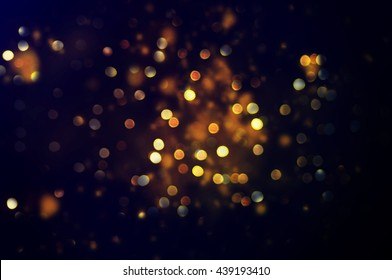 glittering stars on bokeh. Christmas background