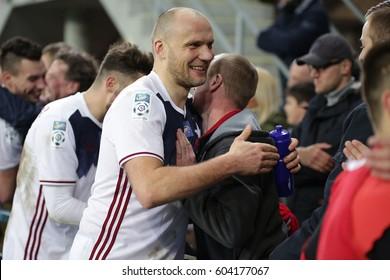 GLIWICE, POLAND - MARCH 04, 2017: Polish Premier Football League Piast Gliwice - Wisla Krakow o/p  Arkadiusz Glowacki