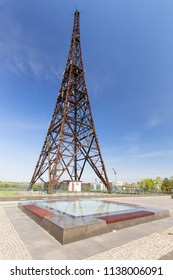 Gliwice in Silesia. An old wooden radio tower, one of the symbols of the beginning of the Second World War in Poland