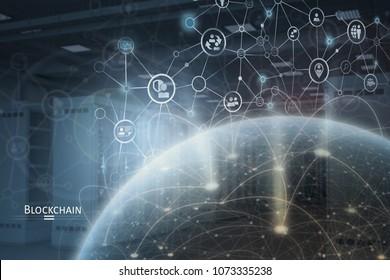 Global Blockchain network concept