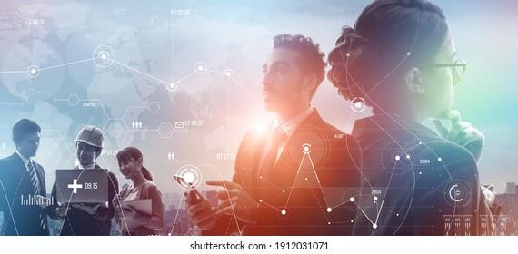 Concepto de negocios global. Estrategia de gestión. Diversidad. Inclusión.