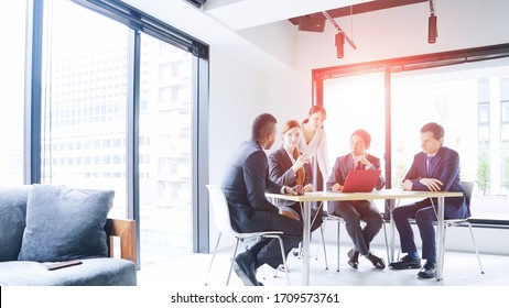 Global business concept. Multinational businessperson in the office. Diversity.