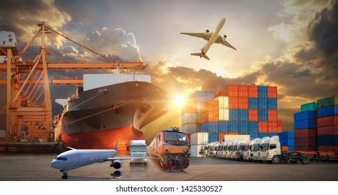 Imágenes, fotos de stock y vectores sobre Logistics+train