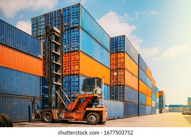 Global business of logistic cargo container Import and export industries.