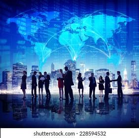 Global Business People Stock Exchange Finance City Concept