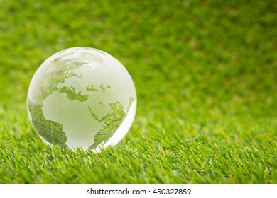 Global businesss finance on the grass