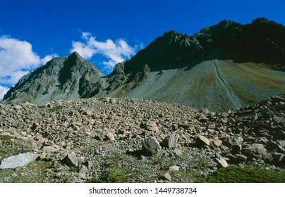 The global clima change makes the alps more dangerous due to melting permafrost