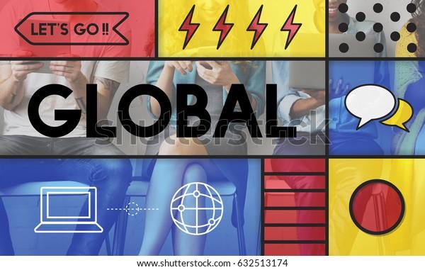 Global Communication Connection Web Concept
