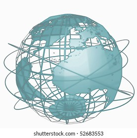 Global communication illustration